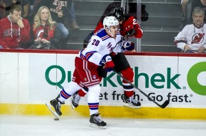 Photo: Sniper Chris Kreider recently joined the Rangers for their extended 2012 playoff run. Kreider has been one of the Rangers top prospects since he was drafted in in 2009. (Rich Kane/Icon SMI)