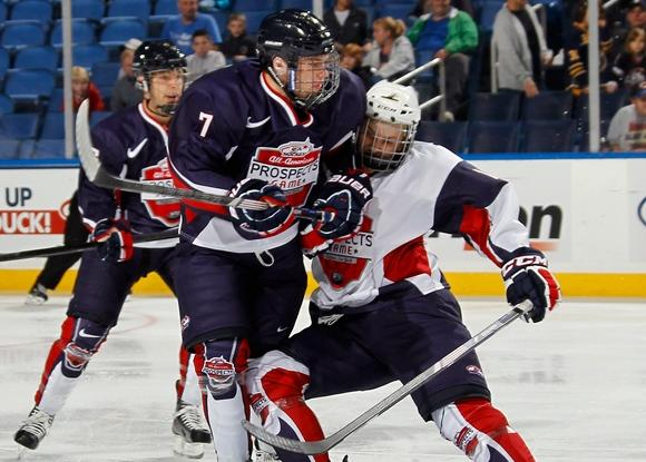 J.T. Compher and Hudson Fasching - 2012 All-American Prospects Game