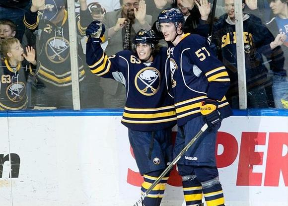 Tyler Ennis and Tyler Myers - Buffalo Sabres