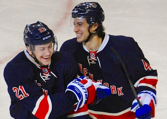 Derek Stepan and Michael Del Zotto - New York Rangers