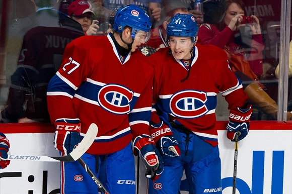 Alex Galchenyuk and Brendan Gallagher - Montreal Canadiens