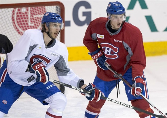 Jarred Tinordi and Alex Galchenyuk - Montreal Canadiens