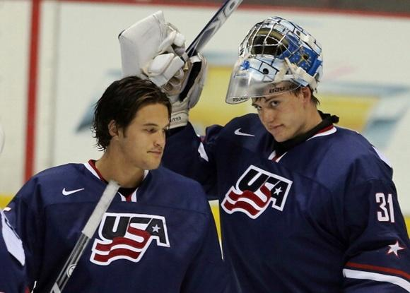 John Gibson and Jon Gillies - Team USA