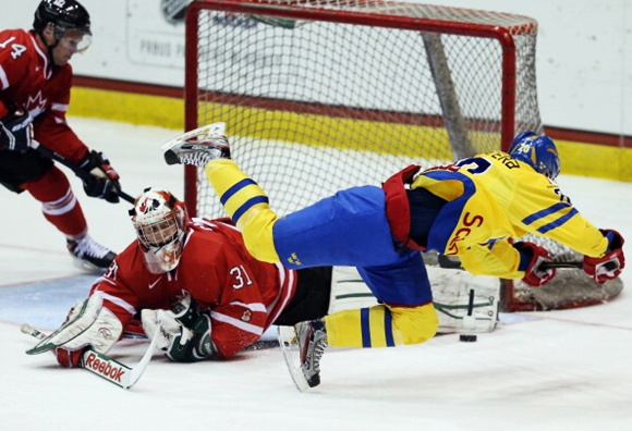 Sweden v Canada - 2013 USA Hockey Junior Evaluation Camp
