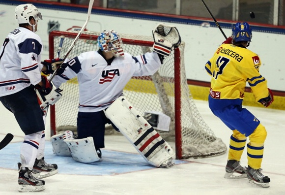 Sweden v United States - 2013 USA Hockey Junior Evaluation Camp