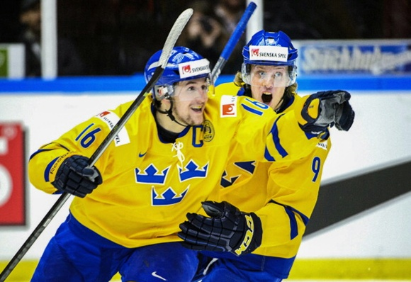 Filip Forsberg and Jacob de la Rose - Team Sweden