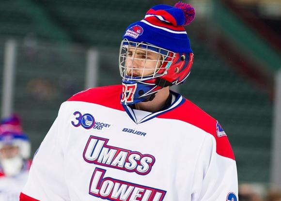 Connor Hellebuyck - UMass Lowell - Frozen Fenway 2014