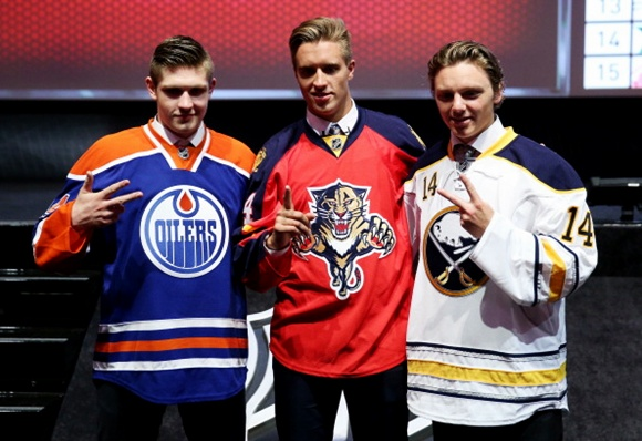 2014 NHL Draft - Leon Draisaitl, Aaron Ekblad, and Sam Reinhart