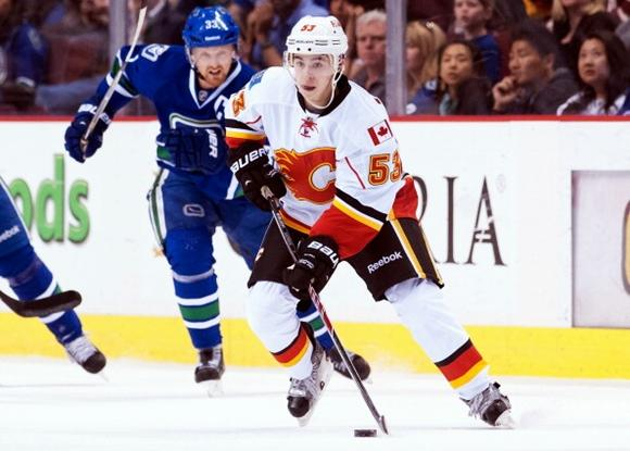 Johnny Gaudreau recorded 80 points in 40 games with Boston College in 2013-14. He brings his sublime offensive skill set to the Calgary Flames in 2014-15. (courtesy of Rich Lam/Getty Images)