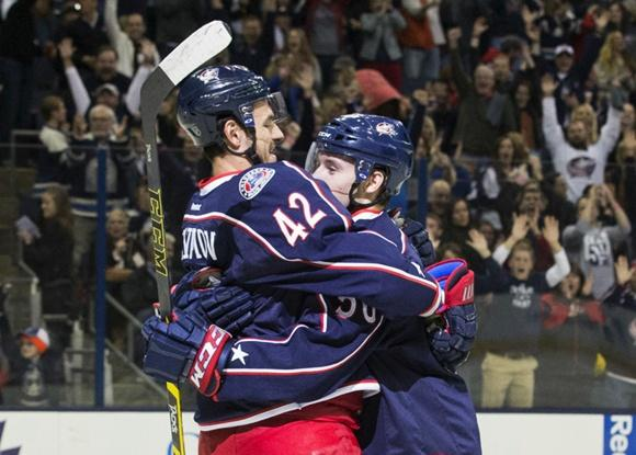 Artem Anisimov and Marko Dano - Columbus Blue Jackets