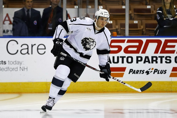 Photo: Los Angeles Kings prospect Derek Forbort  (Courtesy of Fred Kfoury III/Icon Sportswire)