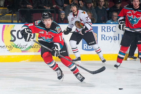 HF Prospect of the Month, November, 2014: Rockets' Chartier remains on scoring tear