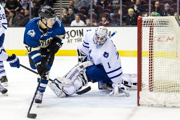 Colin Smith - Lake Erie Monsters; Antoine Bibeau - Toronto Marlies