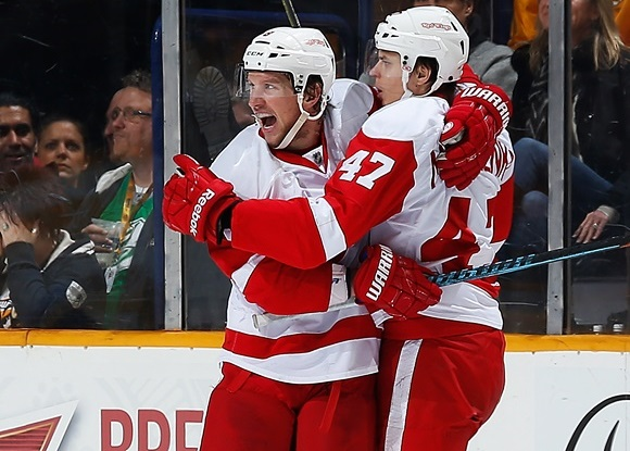 Justin Abdelkader & Alexey Marchenko - Detroit Red Wings