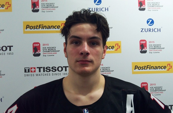 Mathew Barzal - Team Canada - 2015 IIHF Ice Hockey U18 World Championship