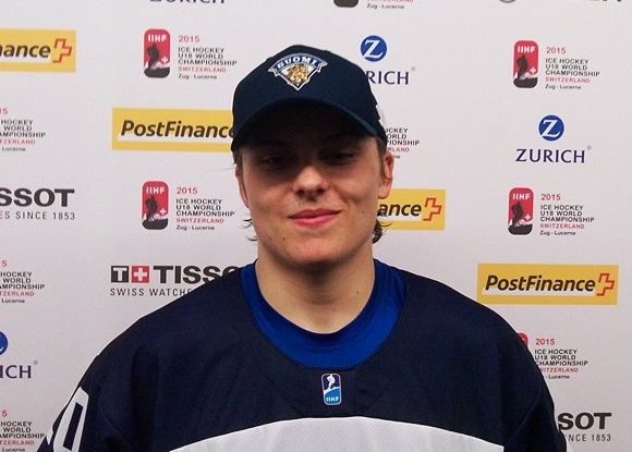 Sami Tavernier - Team Finland - 2015 IIHF Ice Hockey U18 World Championship