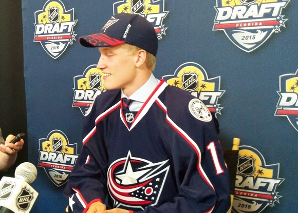 Gabriel Carlsson - Columbus Blue Jackets - 2015 NHL Draft