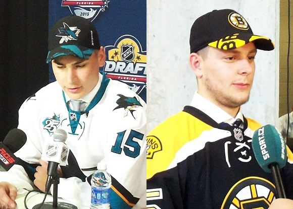 Timo Meier - San Jose Sharks; Jakub Zboril - Boston Bruins - 2015 NHL Draft - QMJHL