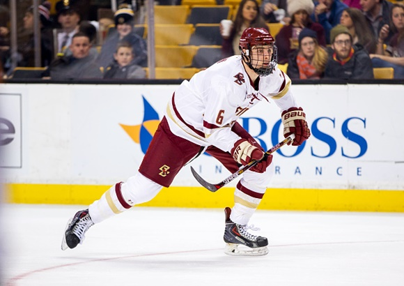 Steve Santini - Boston College - 2015 Beanpot Tournament