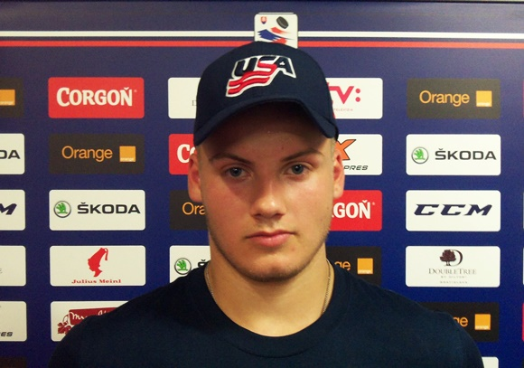 Dayton Rasmussen - Team USA - 2015 Ivan Hlinka Memorial Tournament