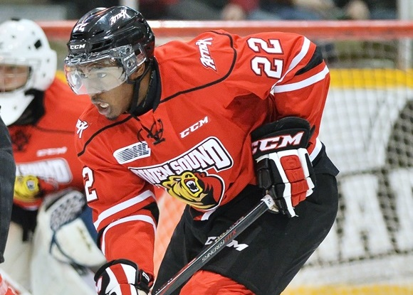 Photo: Jaden Lindo is ready to take a step forward this season after missing large chunks of the last two seasons due to frequent injuries. (Courtesy of Terry Wilson/OHL Images)
