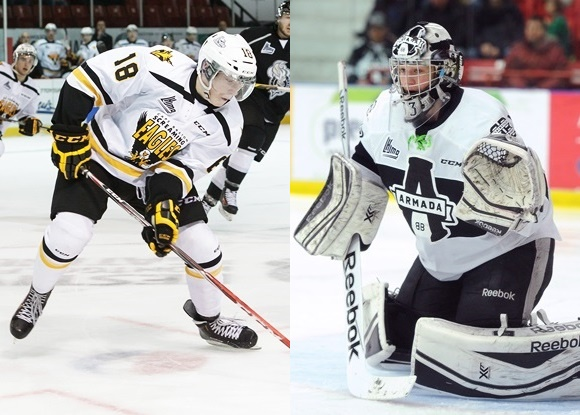 Pierre-Luc Dubois - Cape Breton Screaming Eagles; Samuel Montembeault - Blainville-Boisbriand Armada
