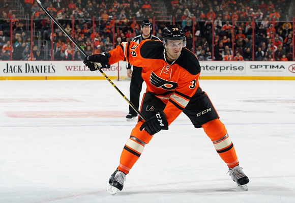 Photo: Mark Alt is one of the first names on the call-up list should the Flyers need help on the blueline this season. (Courtesy of Len Redkoles/NHLI via Getty Images)