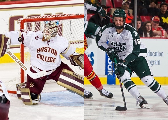 Thatcher Demko - Boston College; Mackenzie MacEachern - Mighigan State University - Prospect Faceoff, 11/11/15