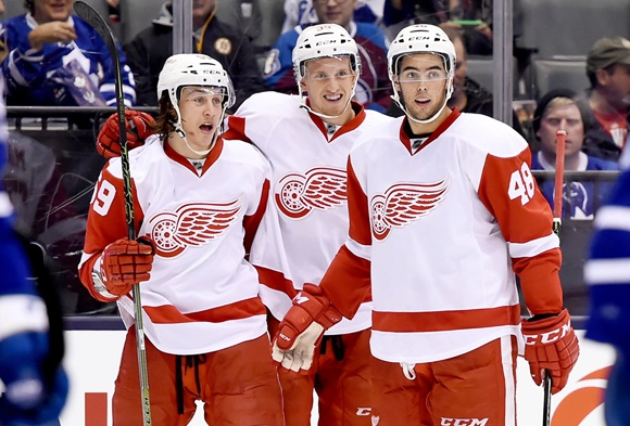Tyler Bertuzzi Ryan Sproul Anthony Mantha - Detroit Red Wings