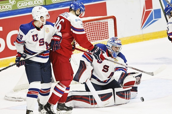 Will Borgen and Alex Nedeljkovic - Team USA - 2016 IIHF World Junior Championship