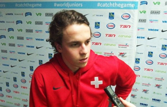 Denis Malgin - Team Switzerland - 2016 IIHF World Junior Championship