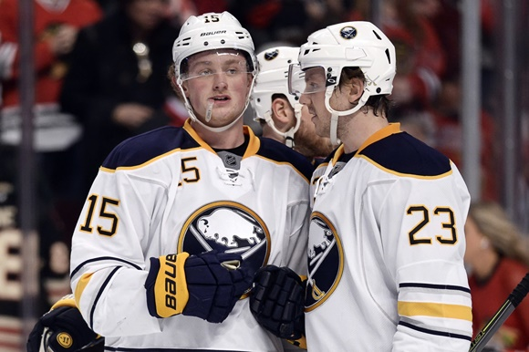 Photo: Centres Jack Eichel and Sam Reinhart promise to one day give the Sabres one of the best one-two punches at centre in recent memory. (Courtesy of Robin Alam/Icon Sportswire)