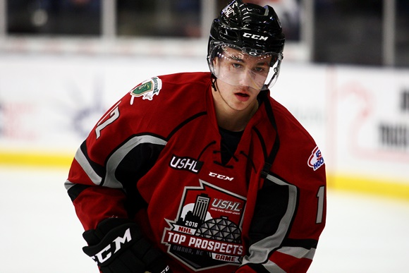 2016 USHL/NHL Top Prospects Game: Musketeers' Keane honing game in USHL before move to North Dakota