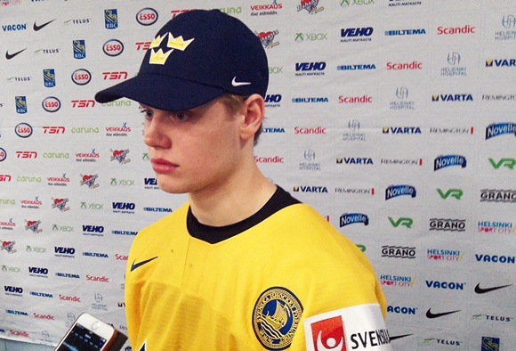 Jacob Larsson - Team Sweden - 2016 IIHF World Junior Championship