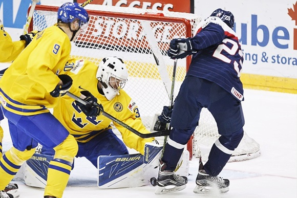 Gabriel Carlsson and Linus Soderstrom - Team Sweden - 2016 IIHF World Junior Championship