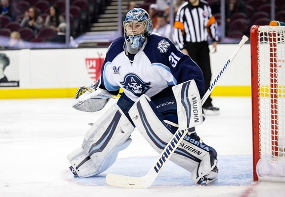 Mazanec-Saros tandem has Admirals looking strong in goal for AHL playoffs