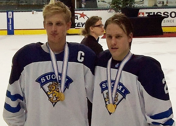Juuso Valimaki and Eeli Tolvanen - Team Finland - Gold Medal Game - 2016 IIHF U18 World Championship