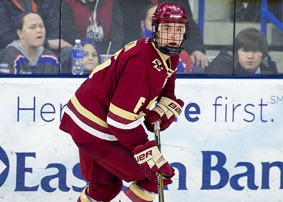 2016 NCAA Frozen Four: BC's Santini gets offensive in junior campaign