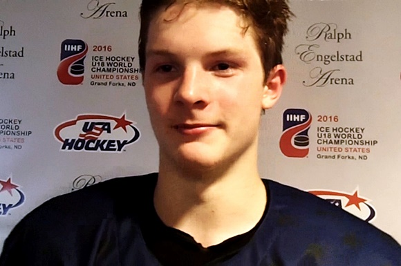 Trent Frederic - Team USA - 2016 IIHF U18 World Championship