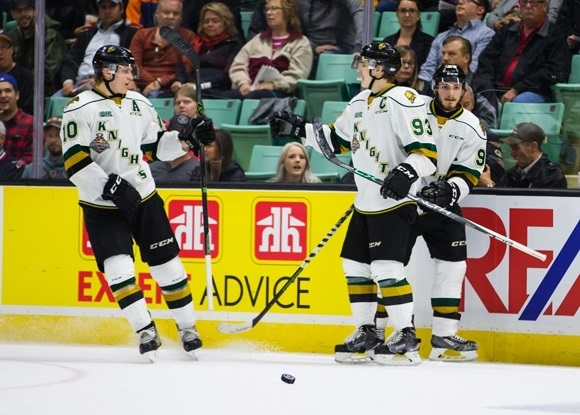 Christian Dvorak and Mitch Marner - London Knights - 2016 MasterCard Memorial Cup